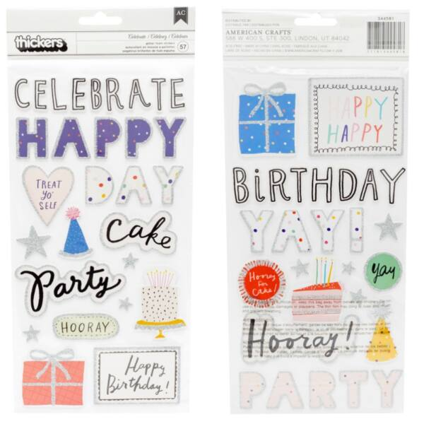 Crate Paper - Hooray dekorgumi feliratok - Celebrate (57 db)