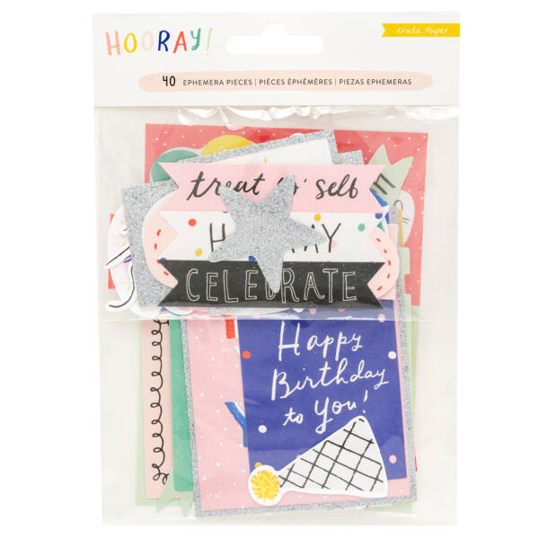 Crate Paper - Hooray Ephemera (40 Piece)