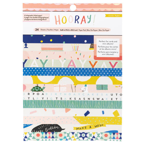 Crate Paper - Hooray 6x8 Paper Pad - 24 Sheets