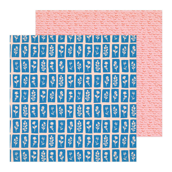 Crate Paper - La La Love 12x12 Patterned Paper - Love Note