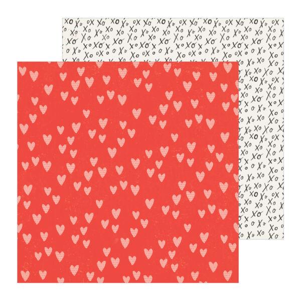 Crate Paper - La La Love 12x12 Patterned Paper - Heart You