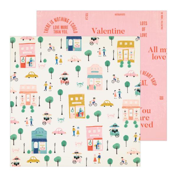 Crate Paper - La La Love 12x12 Patterned Paper - Amour