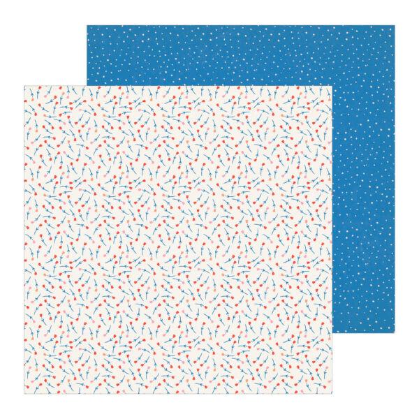 Crate Paper - La La Love 12x12 Patterned Paper - Bouquet