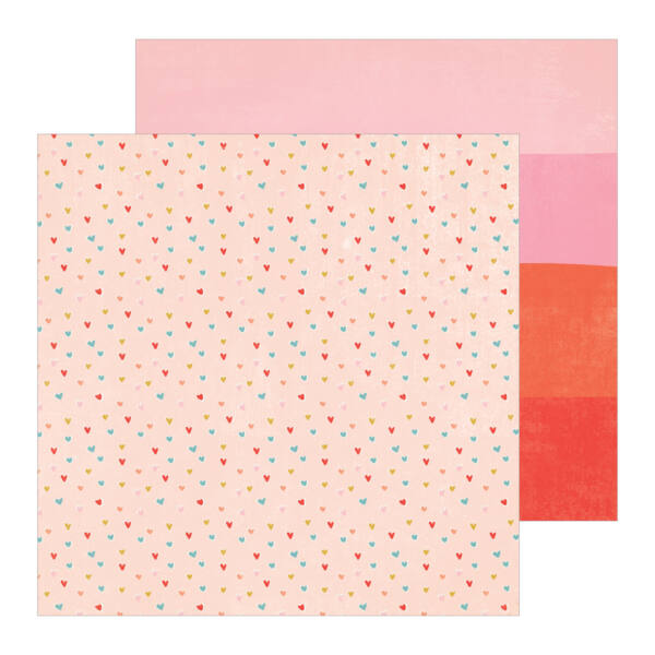 Crate Paper - La La Love 12x12 Patterned Paper - Blush