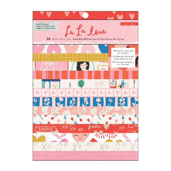 Crate Paper - La La Love 6x8 Paper Pad 24 Sheets