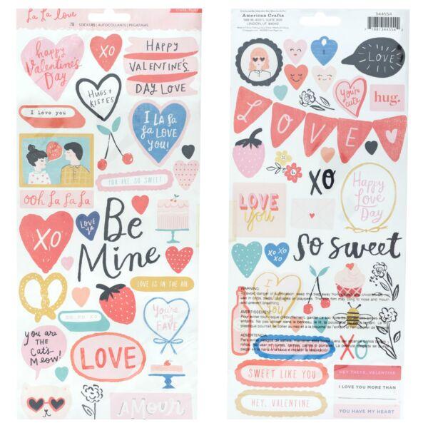 Crate Paper - La La Love 6x12 matrica (75 db)