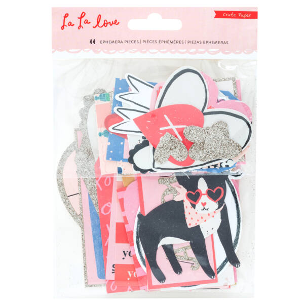 Crate Paper - La La Love Ephemera (44 Piece)