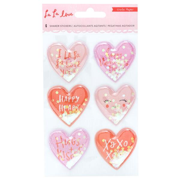 Crate Paper - La La Love Shaker Sticker (6 Piece)