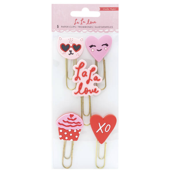 Crate Paper - La La Love Rubber Paper Clips (5 Piece)