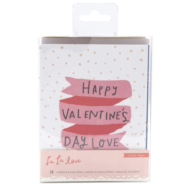 Crate Paper - La La Love Card Set (20 Piece)