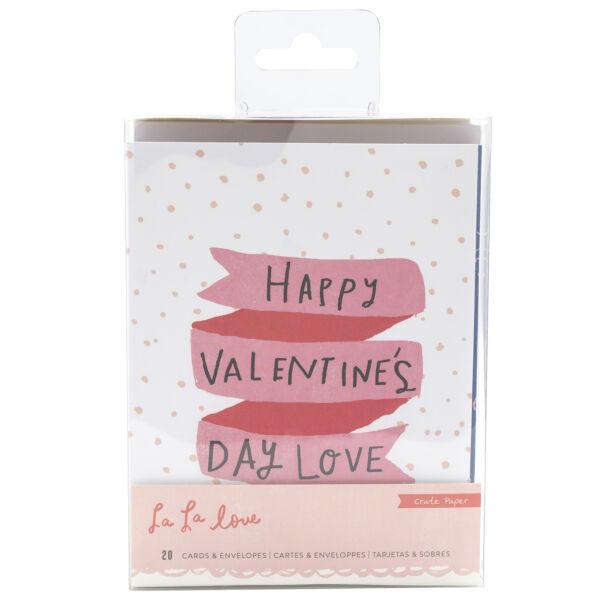 Crate Paper - La La Love Card Set (20 Piece)