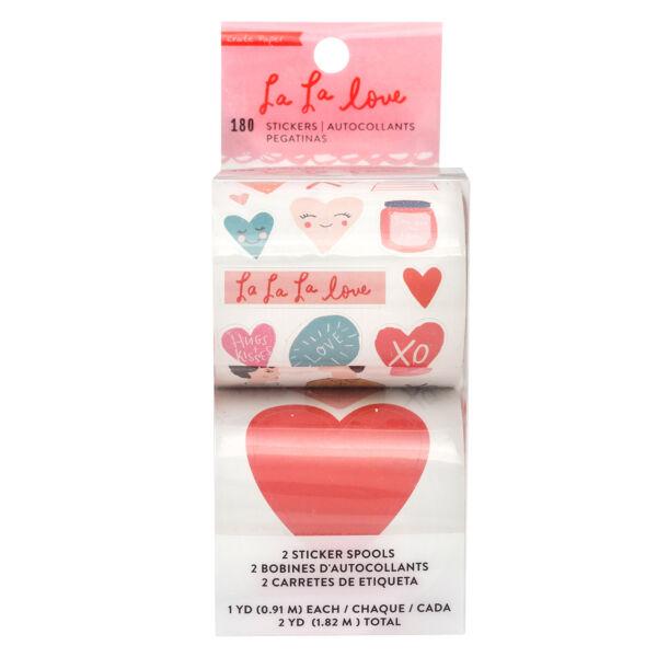 Crate Paper - La La Love Sticker Roll (180 Piece)