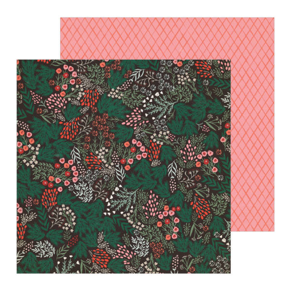Crate Paper - Merry Days 12x12 Paper - Sugar Plums