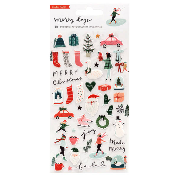 Crate Paper - Merry Days Puffy Stickers 50/Pkg