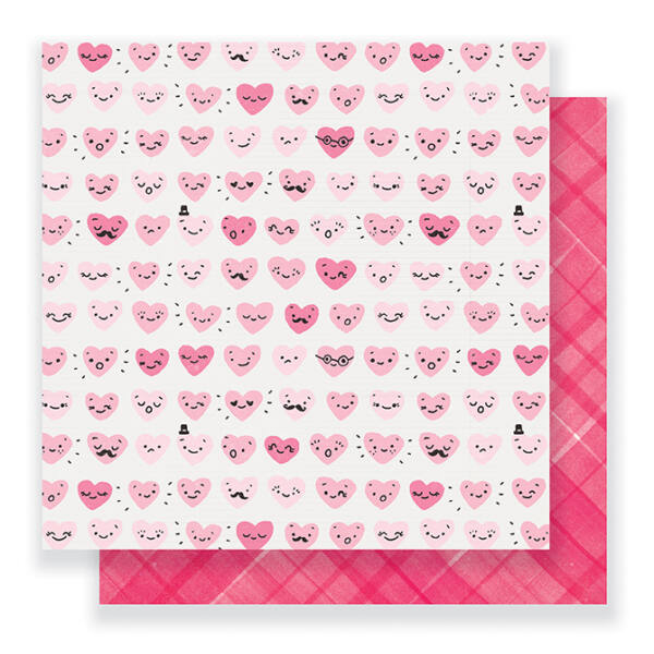 Crate Paper- Heart Day 12x12 Double Sided Paper - Happy Heart
