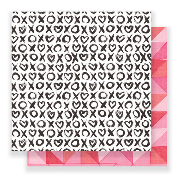 Crate Paper- Heart Day 12x12 Double Sided Paper - Hugs & Kisses