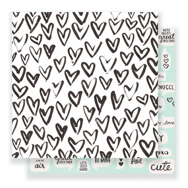 Crate Paper- Heart Day 12x12 Double Sided Paper - Snuggles