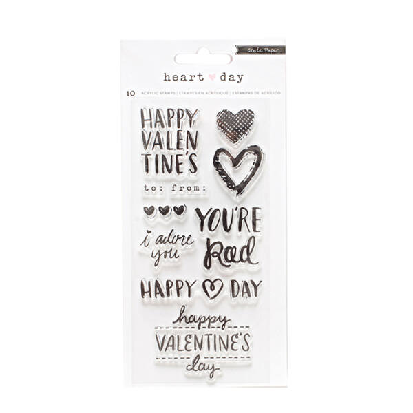 Crate Paper- Heart Day Clear Stamp Set