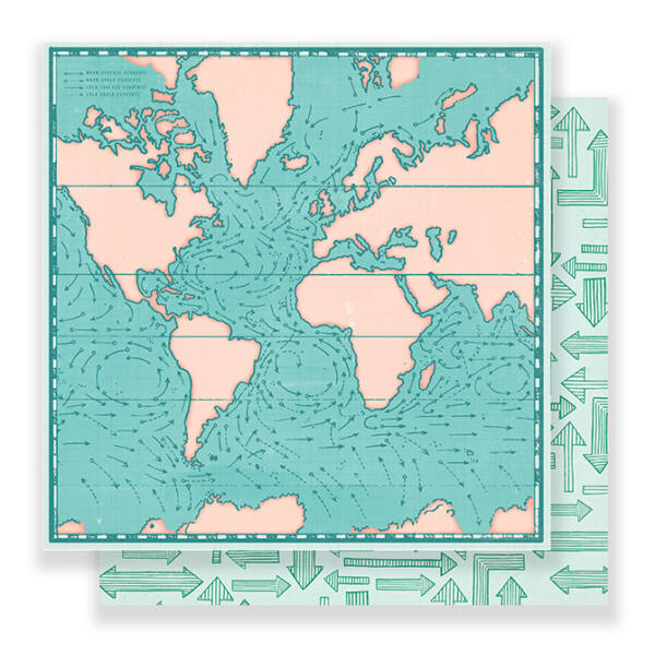 Crate Paper - Here & There 12x12 Paper - Tour Guide