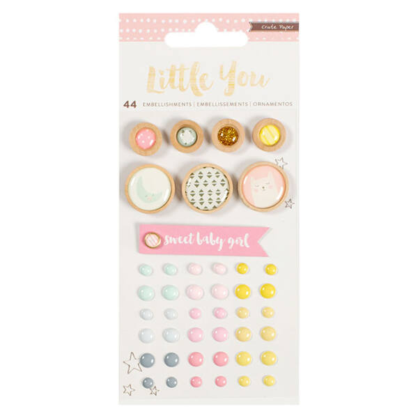 Crate Paper Little You - Girl Mixed Embellishments