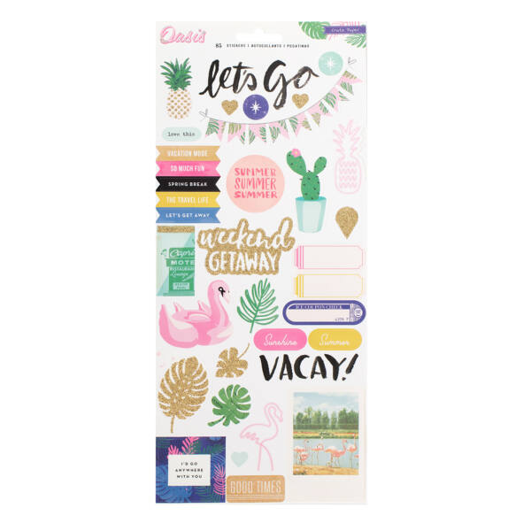 Crate Paper Oasis 6x12 Stickers