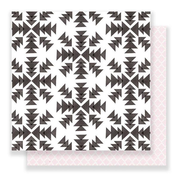 Crate Paper Snow & Cocoa 12 x 12 Double Sided Paper - Snowflakes
