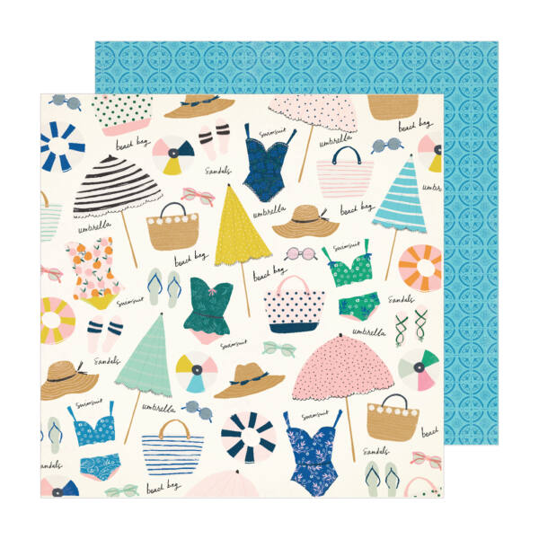 Crate Paper - Maggie Holmes - Sunny Days 12x12 Patterned Paper -  Sunkissed