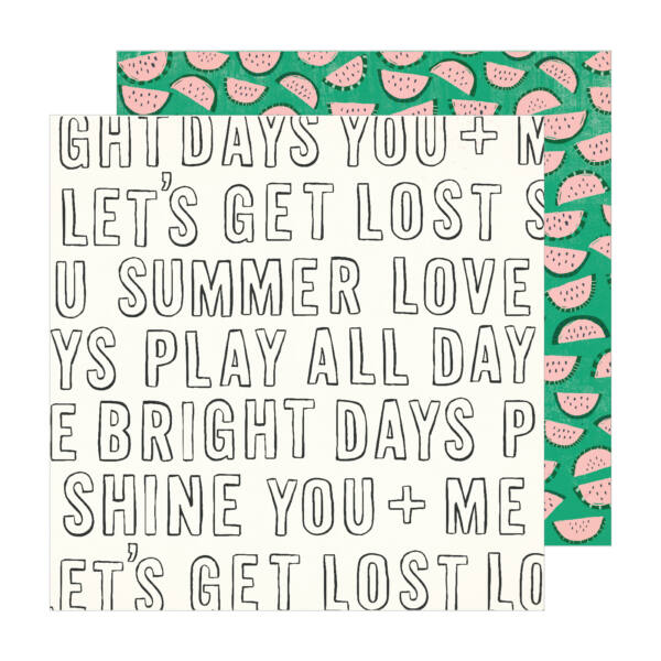 Crate Paper - Maggie Holmes - Sunny Days 12x12 Patterned Paper -  Bright Days