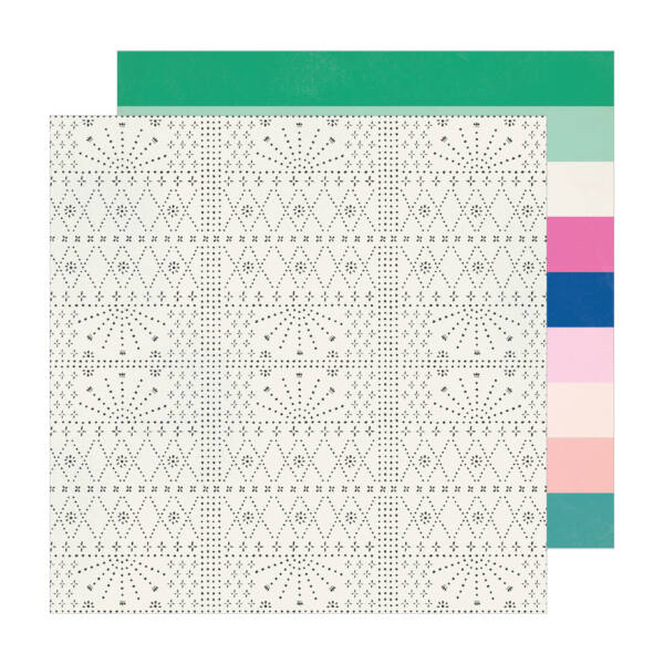 Crate Paper - Maggie Holmes - Sunny Days 12x12 Patterned Paper -  Explorer