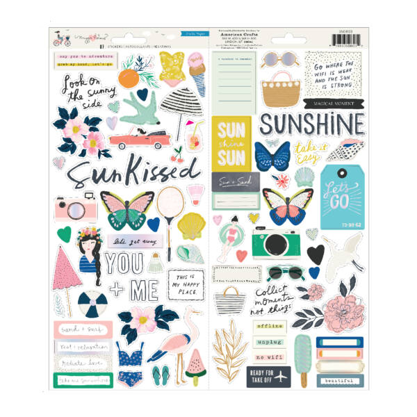Crate Paper - Maggie Holmes - Sunny Days 6x12 Stickers (87 Piece)
