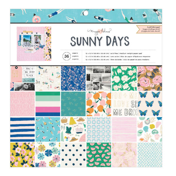 Crate Paper - Maggie Holmes - Sunny Days 12x12 Paper Pad (36 Sheets)