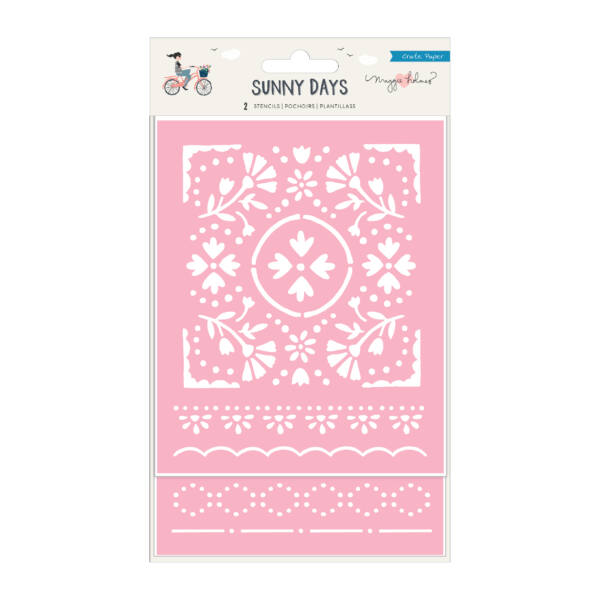 Crate Paper - Maggie Holmes - Sunny Days Stencil (2 Piece)