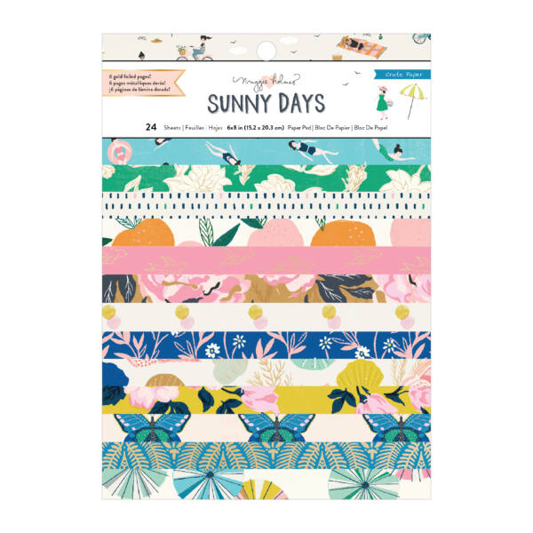 Crate Paper - Maggie Holmes - Sunny Days 6x8 Paper Pad (24 Sheets)