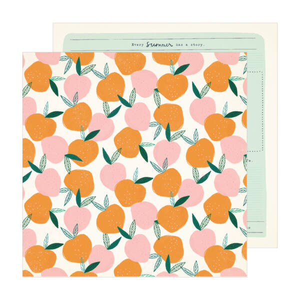 Crate Paper - Maggie Holmes - Sunny Days 12x12 Patterned Paper -  Peachy