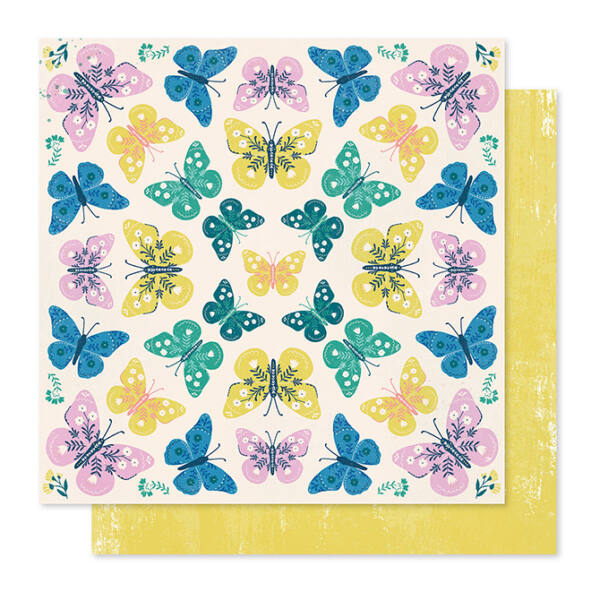 Crate Paper - Maggie Holmes - Willow Lane 12x12 Paper - Flutter