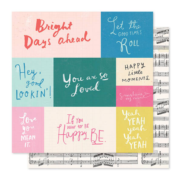 Crate Paper - Maggie Holmes - Willow Lane 12x12 Paper - Melody