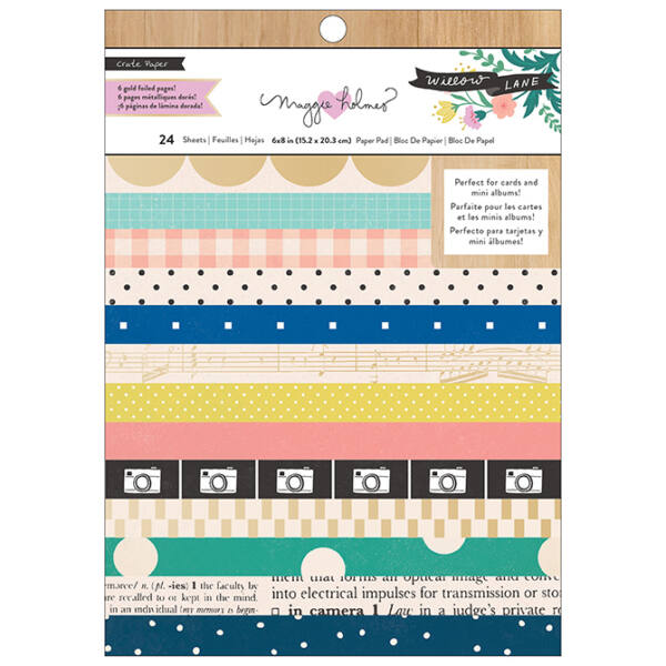 Crate Paper - Maggie Holmes - Willow Lane 6x8 Paper Pad - Basic
