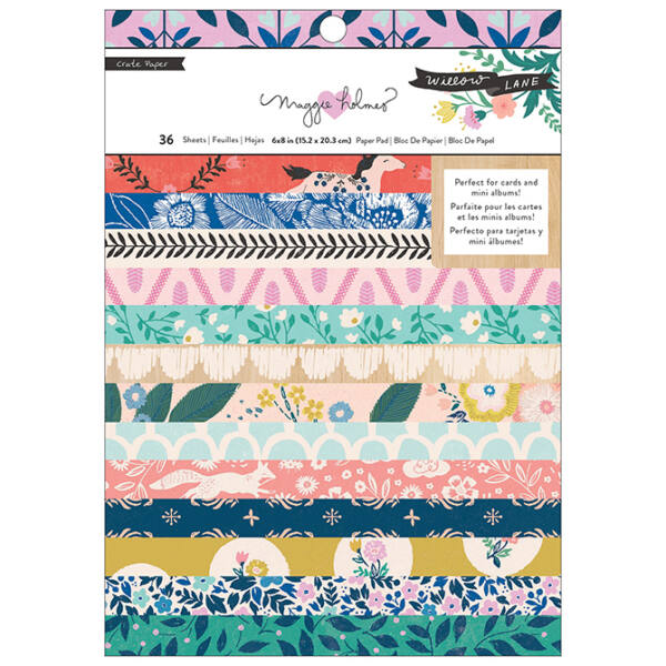 Crate Paper - Maggie Holmes - Willow Lane 6x8 Paper Pad
