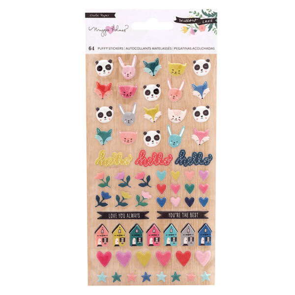 Crate Paper - Maggie Holmes - Willow Lane Puffy Stickers