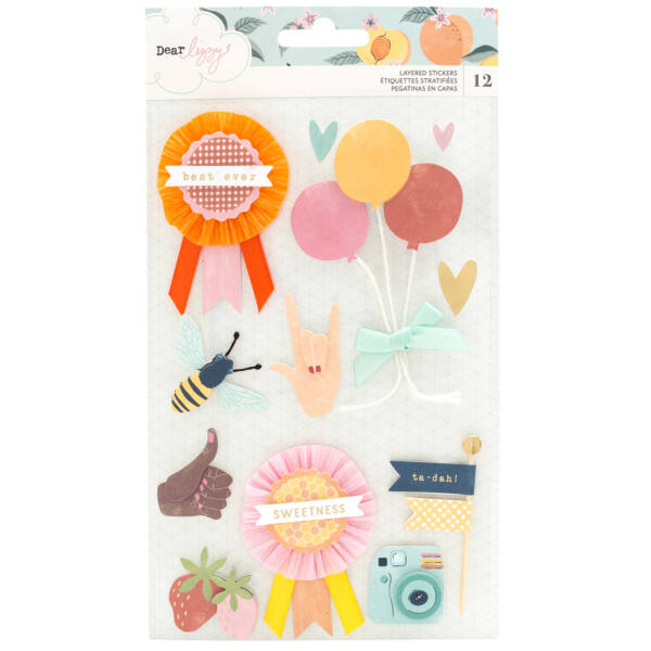 Dear Lizzy - It's All Good Layered Stickers (12 Piece)