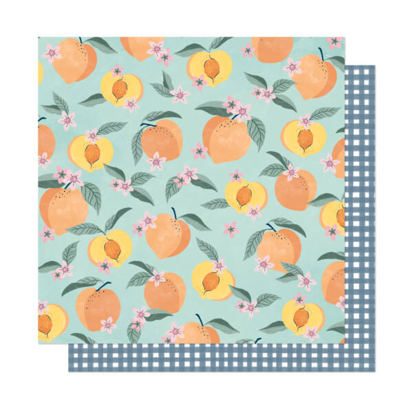 Dear Lizzy - It's All Good 12x12 Patterned Paper - Peachy Keen