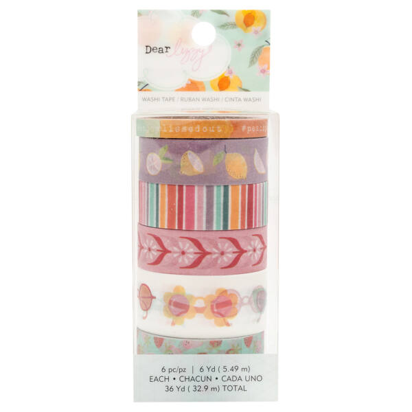 Dear Lizzy - It's All Good Washi Tape Set (6 Piece)