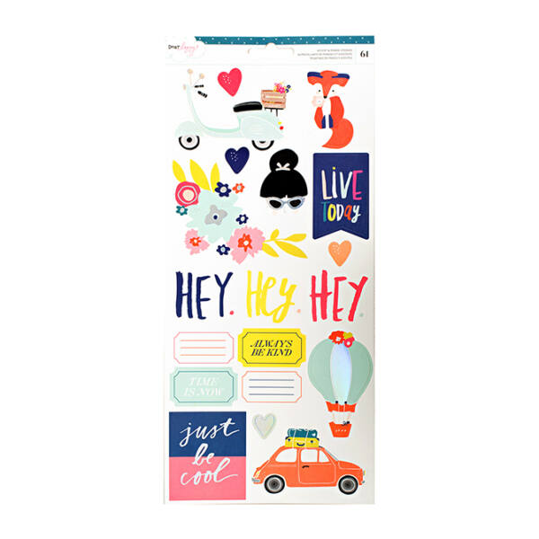 Dear Lizzy Lovely Day 6x12 Stickers