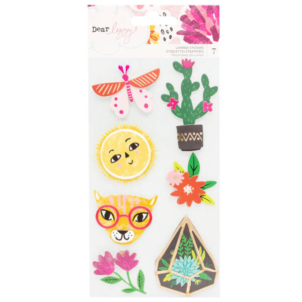 Dear Lizzy - New Day Layered Cardstock Stickers (7 Piece)