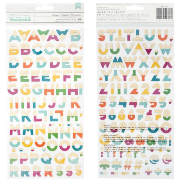 Dear Lizzy - New Day Alpha Thickers - Bonjour (184 Piece)