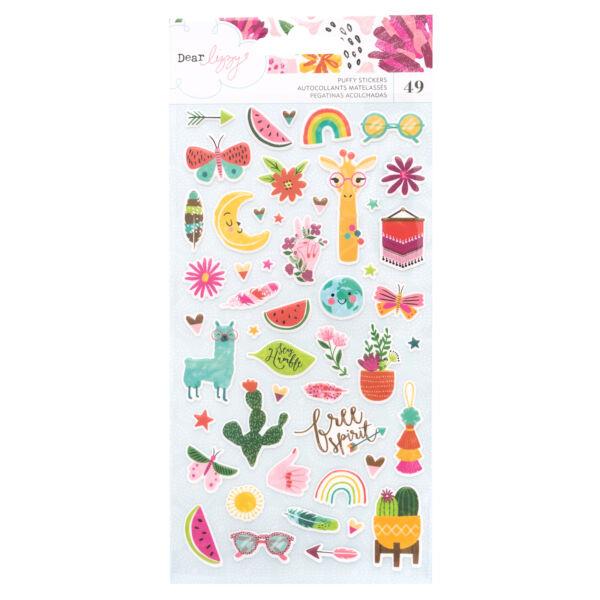 Dear Lizzy - New Day Puffy Stickers (49 Piece)