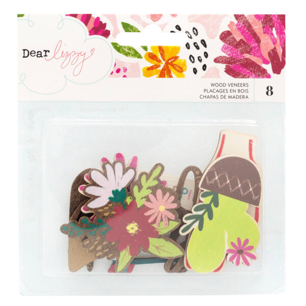 Dear Lizzy - New Day Die-Cut Wood Veneer (8 Piece)