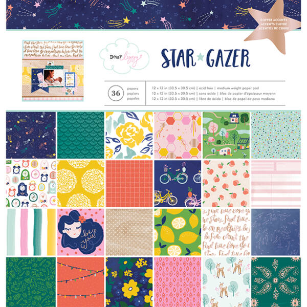 Dear Lizzy - Star Gazer 12x12 Paper Pad