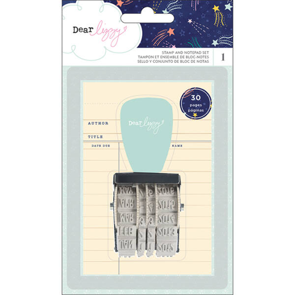 Dear Lizzy - Star Gazer Stamp and Notepad Set