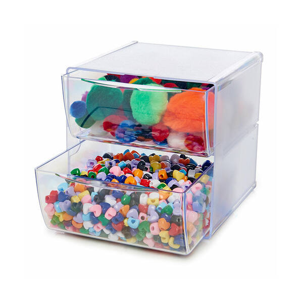 Deflecto Cube Storage Organizer - 2 Drawer